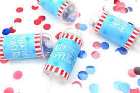 4th of july crafts party poppers