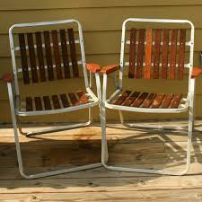 Metal Patio Furniture Retro - vintage folding lawn chairs mid century modern wooden slats