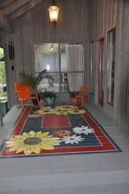 Painting An Outdoor Rug with Beautiful Painted Porch Floor Paint Instead Of Stain Is Sometimes