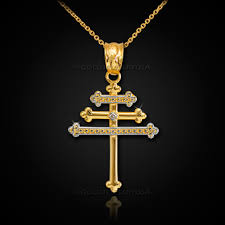 cross diamond pendant necklace images Gold maronite aramaic cross diamond pendant jpg