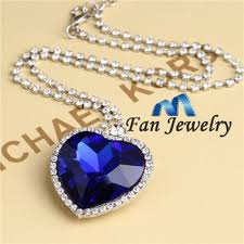 titanic blue necklace images Buy titanic blue crystal heart of ocean sapphire pendant necklace jpg