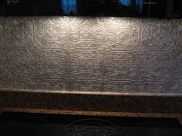 fake frugal punched tin backsplash fake punched tin backsplash