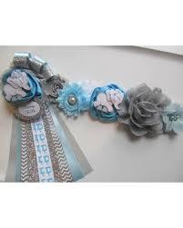 baby shower sash amazing deal on set elephant baby shower corsage and sash