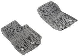 2014 jeep floor mats slush mats front set of two black w jeep logo jeep wrangler 2