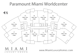floor plan key paramount miami worldcenter floor plans