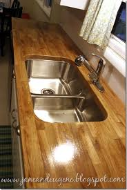 How To Install Butcher Block Countertops by So Much Jane And Eugene Installed Butcher Block Countertop