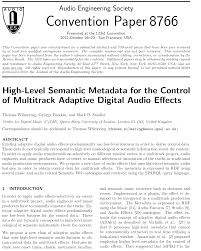 aes e library high level semantic metadata for the control of