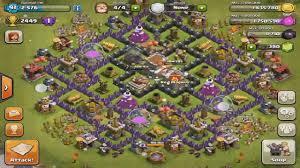 clash of clans fr hdv 8 rush trophée hybrid bon village vidéo