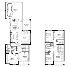 Narrow House Plans With Garage 2 Story House Plans With 4 Bedrooms Two Balconies Bedroom Modern