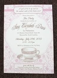 bridal tea party invitation formal baby shower invitations wording party xyz
