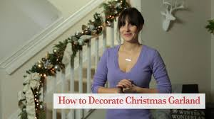How To Decorate Banister With Garland How To Decorate Christmas Garland For Your Staircase Youtube