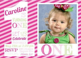 baby first birthday invitation card
