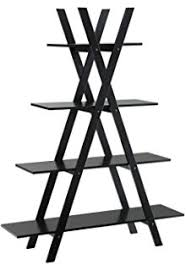 A Frame Bookshelf Plans Amazon Com Winsome Wood 3 Tier A Frame Shelf Black Kitchen U0026 Dining