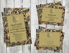 Camouflage Wedding Invitations Buck And Doe Wedding Invitation By Theinkbasket On Etsy 15 00