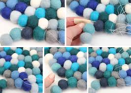 Wool Felt Rugs Diy Home Felt Ball Rug Catherinegrace