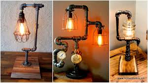 Diy Desk Pipe by 16 Sculptural Industrial Diy Pipe Lamp Design Ideas Able To