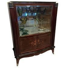 art deco china cabinet french art deco vitrine or display cabinet in the style of jules