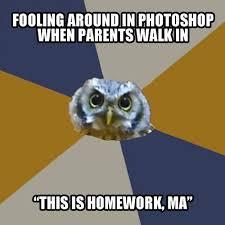 Art Student Owl Meme - homework art student owl know your meme