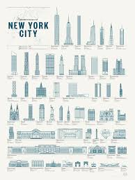 Blue Print Of A House Collection Of New York Architectural Wonders Printed In A