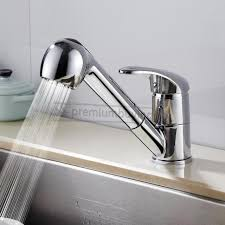 kitchen faucet pull out spray chrome kitchen swivel spout single handle sink faucet pull