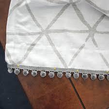 diy pom pom curtain trim to dress up plain curtains food fun kids