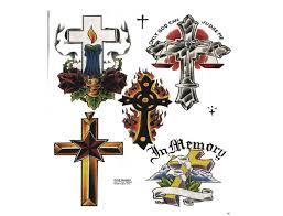 black color ink christian cross designs for boys