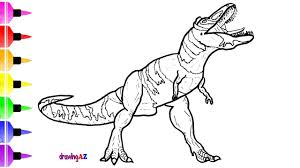 dinosaur drawing and coloring pages for kids how to draw