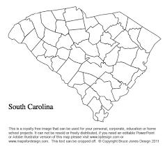 south carolina county map printable printable maps