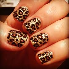 Nail Designs Cheetah Cheetah Nails I Used Silver Nail For My Background