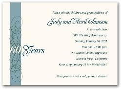 60th wedding anniversary invitations 60th wedding anniversary invitation wording vertabox