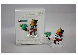 hallmark 2008 winter with snoopy ornament 11th in the series