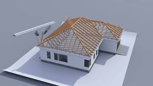 Hip Roof Images by Roofing Hip U0026 Building A House With A Hip Roof Time Lapse 3d