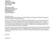 Cover Letter For Entry Level Proper Sample Accounting Cover Letter U2013 Letter Format Writing