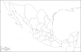 Mexico Map With States by Mexico Map Coloring Page Coloring Home