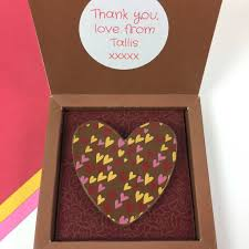 chocolate heart box personalised message chocolate heart box by chocolate by cocoapod