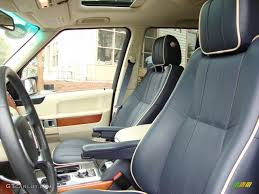 dark blue range rover navy blue parchment interior 2009 land rover range rover hse photo