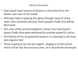 How Many Of These Powerful by Eschatology Part 2 Rise And Fall Of Nations Objective Why Did God