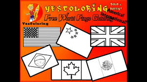 grand world flag coloring pages
