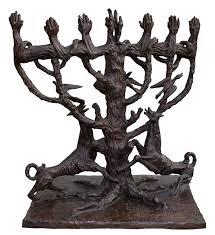 menorah tree of the tree of menorah 1957 ossip zadkine wikiart org