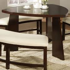 triangle pub table set millennium emory 7 piece triangle pub table set with 6 upholstered