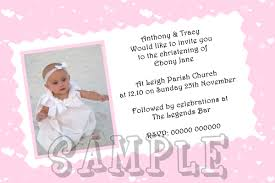 Sample Of Invitation Card For Christening Christening Invitation Template For