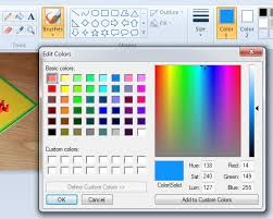 how to get html color code from an image using ms paint