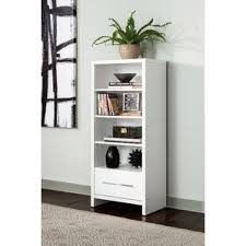 Bookcase With Drawers White Lacquer Bookcase Wayfair