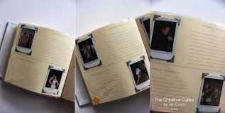 wedding guest book photo album the creative cubby polaroid wedding guest book