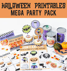halloween party packs halloween printables the crafting