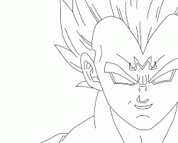 majin vegeta coloring pages body buu colorine net 22440