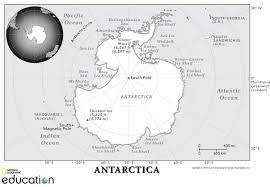 Antartica Map Antarctica National Geographic Society