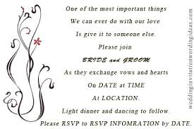 simple wedding invitation wording casual wedding invitation wordings