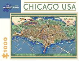 usa map jigsaw puzzle chicago usa map 1000 jigsaw puzzle poster plus