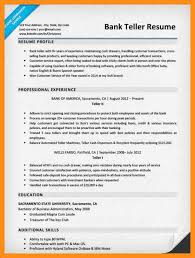 Resume For Bank Teller Objective Teller Resumes Bank Teller Resume Objective Best Business Template